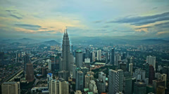 Kuala Lumpur aerial time-lapse HDR Stock Footage