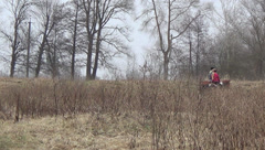 Rider, horse walk Stock Footage
