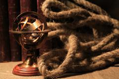armillary sphere globe - stock photo