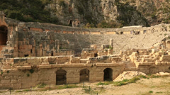 Ancient city of Myra 3 Stock Footage