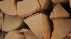 Stack of wood Stock Footage