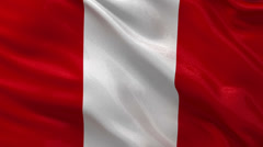 Flag of Peru - seamless loop Stock Footage