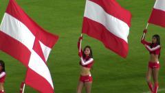 Cheerleaders, Flags, Talent, Performers Stock Footage