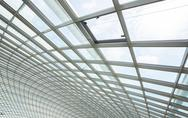 Stock Photo of interior glass roof