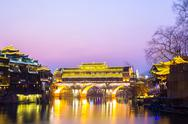 Stock Photo of hongqiao bridge fenghuang china