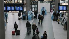 0285 COPENHAGEN airport Stock Footage