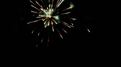 The beautiful fireworks in the sky Stock Footage