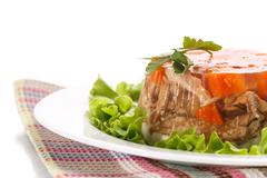 Meat aspic Stock Photos