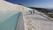 Stock Video Footage of cotton castle Pamukkale 9