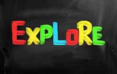 Stock Illustration of explore concept