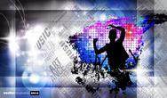 Stock Illustration of Urban music background