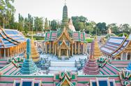 Stock Photo of the royal temple of the emerald budoha mini siam
