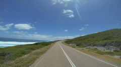 The Great Ocean Drive Time lapse from drive, Esperance, Western Australia Stock Footage
