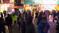 Time Lapse  Hong Kong downtown Mong Kok commuters zebra crossing crowds crowded Stock Footage