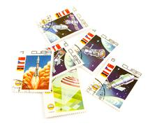 cuba post stamps - stock photo