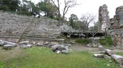 Ancient city of Phaselis 2 Stock Footage