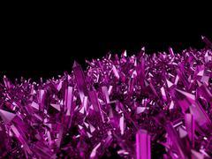 Amethyst crystals Stock Illustration