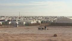 Zaatari Refugee Camp Stock Footage