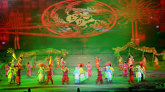 The Chinese traditional performance-Shehuo show in Yu County, China Stock Footage