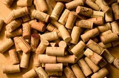 Wine corks heap Stock Photos