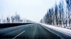 Driving on the road of Yu county in Hebei Province, China Stock Footage