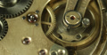 Ultra HD 4K Close Up Vintage Mechanical Old Clock Mechanism Working Time Passing 4k or 4k+ Resolution
