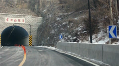 Driving through the Dongfanghong tunnel Stock Footage