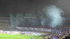 Smoke, Gas, Stadium, Terrorism Stock Footage