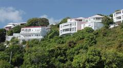 Luxury homes tropical hill St Thomas USVI HD 0839 Stock Footage