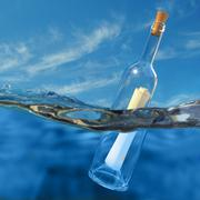 Message in a bottle Stock Illustration
