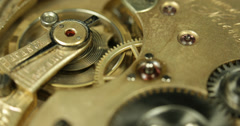 Ultra HD 4K UHD Old Mechanism Clock Time Catcher Future Past Counter Hours Stock Footage