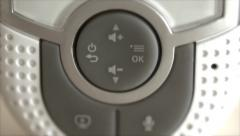 A tilting shot of baby monitor Stock Footage