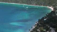 Stock Video Footage of Magens Bay and beach St Thomas USVI HD 0851