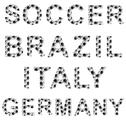 Stock Illustration of soccer style words