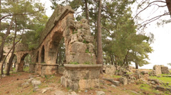 Ancient city of Phaselis 12 Stock Footage