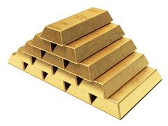 Stock Illustration of gold ingots pyramid
