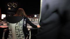 Recording Studio Bass Player 10 Stock Footage