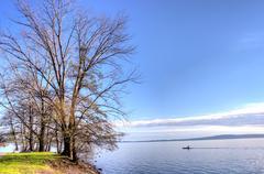 Stock Photo of lake in winter