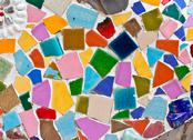 Stock Photo of multicolored small tiles abstract pattern background