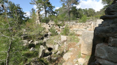 Ancient city of Seleucia (Lybre) 1 Stock Footage
