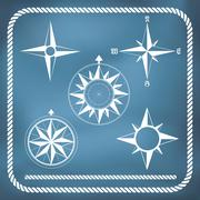 Old vintage windrose compass Stock Illustration