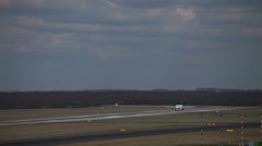 Lufthansa airbus a319-114 jet airplane d-ailm taking off dusseldorf airport. Stock Footage