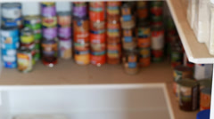 An out of focus pantry shot Stock Footage