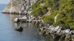 Calaiza beach with calm sea Stock Footage