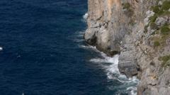 Cliffs at Punta Mona Stock Footage