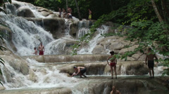Dunn river falls Stock Footage