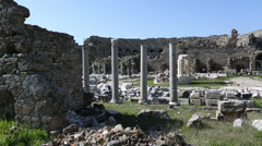 Ancient city of Side 1 Stock Footage