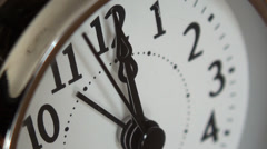 Silver Twin Bell Clock Alarm - stock footage