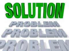Stock Illustration of the solution comes into focus