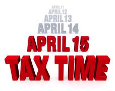Stock Illustration of tax time is coming